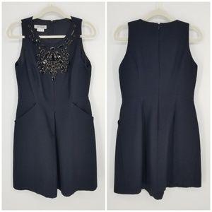 Kay Unger Black Jewel Embellished Dress Sz 12